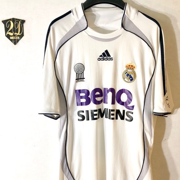 buy online e3507 f0f57 🤴 Vintage Adidas Real Madrid 06/07 Soccer Jersey